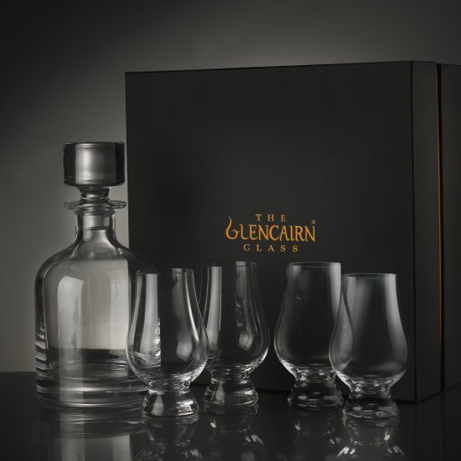 Decanter + Four Glencairn Set