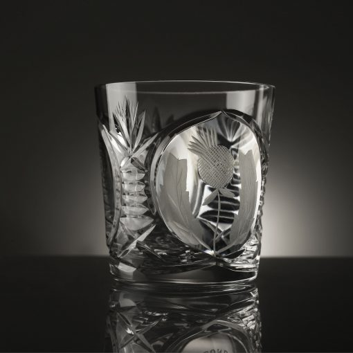 Bothwell Whisky Tumbler with Thistle Cut