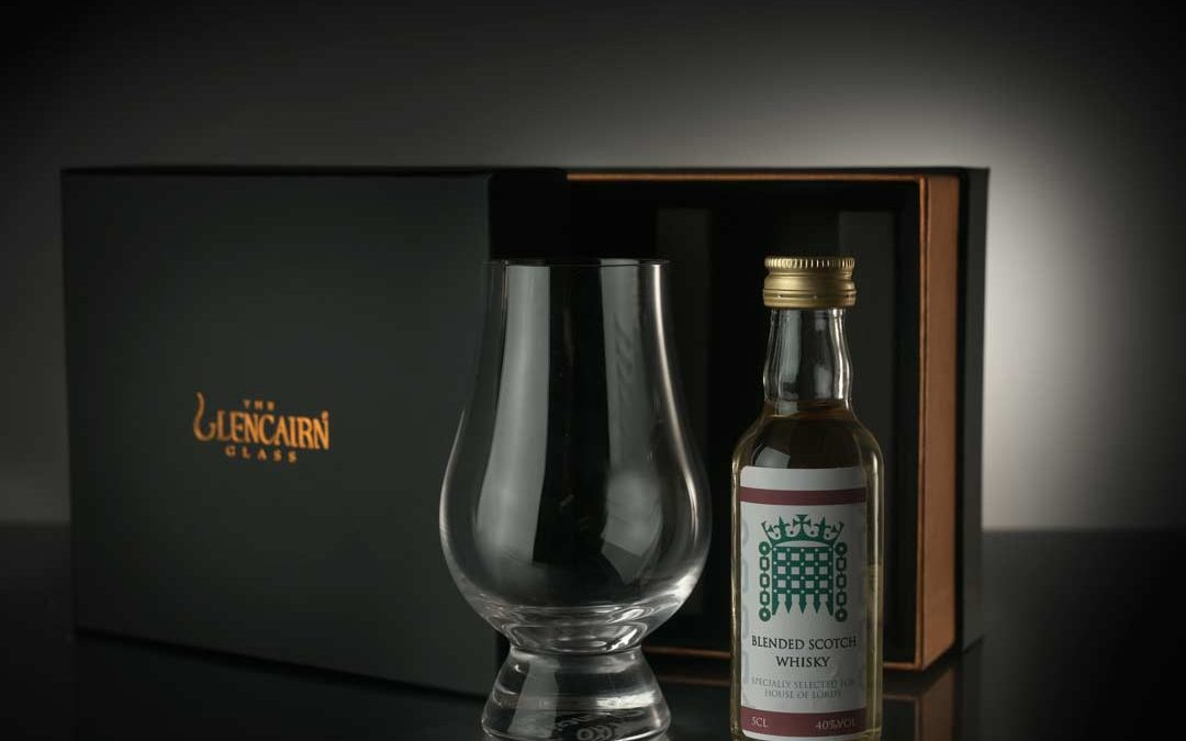 Glencairn Glass and Whisky Miniature Set
