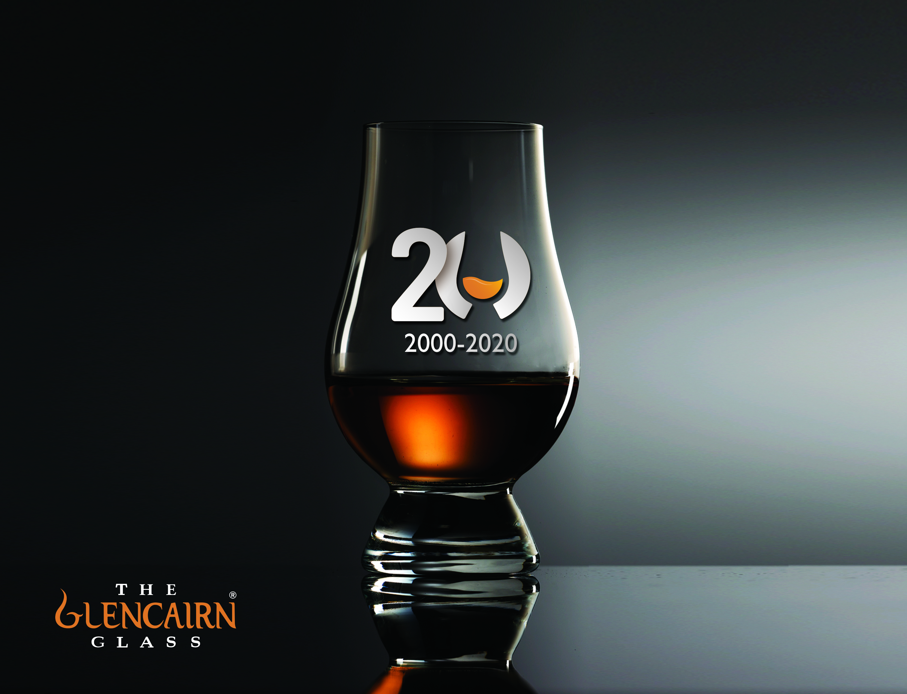 Glencairn Glass with 20th anniversary logo.