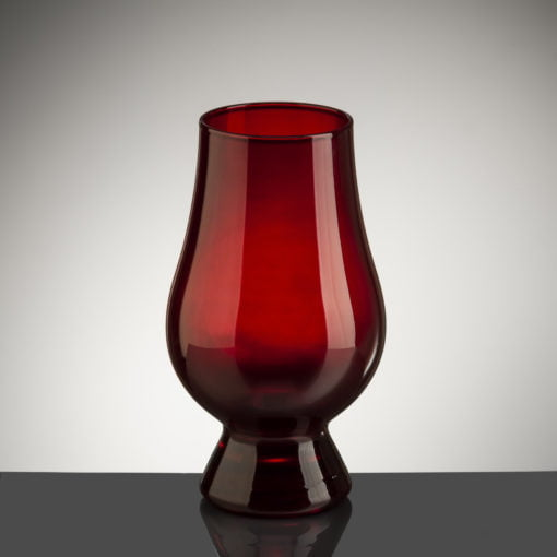 A red version of The Glencairn Glass